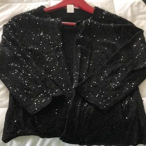Sparkly open cardigan